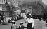 Sidmouth, Mother And Girls On The Esplanade 1918