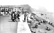 Sidmouth, Promenade Looking East 1924