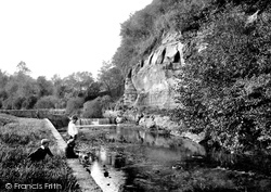 Sidmouth, River Sid, The Weir 1906