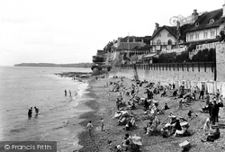 Sidmouth, The Bathing Beach 1925