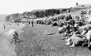 Sidmouth, The Beach 1924