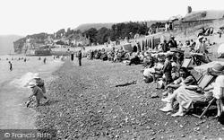 Sidmouth, The Beach 1924
