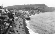 Sidmouth, The Beach 1934