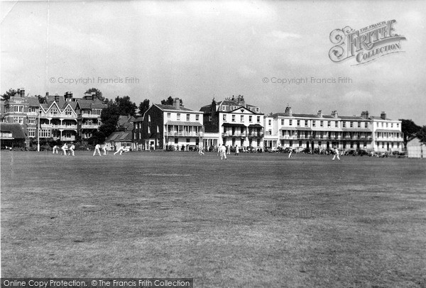 Photo of Sidmouth, The Cricket Field And Fortfield Hotel c.1955