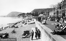 Sidmouth, The Esplanade And Beach 1934