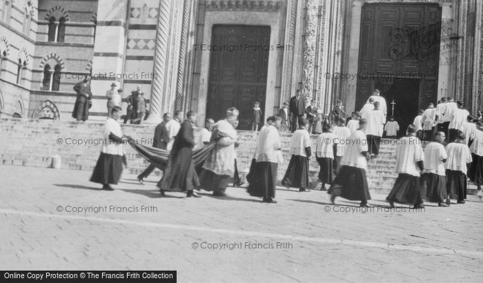 Photo of Siena, A Scene Outside Cathedral c.1930