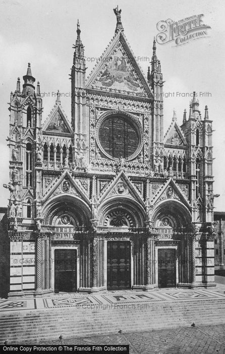 Photo of Siena, Cathedral, Façade c.1920