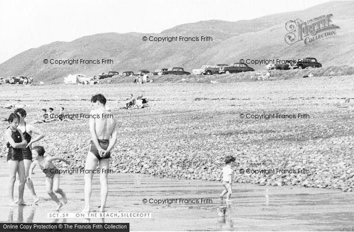 Photo of Silecroft, On The Beach c.1960