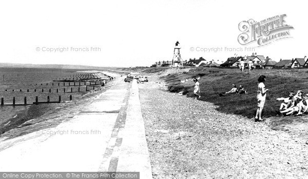 Photo of Silloth, the Promenade c1955, ref. S658015