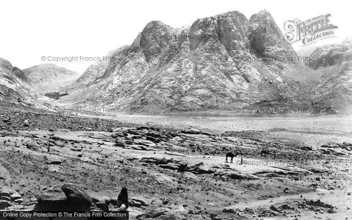 Photo of Sinai, Mount Horeb (Ras Sufsafeh) And The Plain Of Er Raha 1858