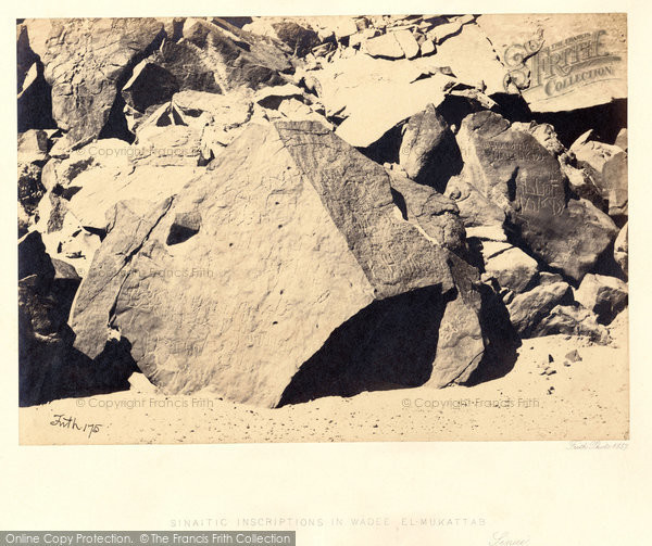 Photo of Sinai, Sinaitic Inscriptions In Wadee El Mukattab 1858
