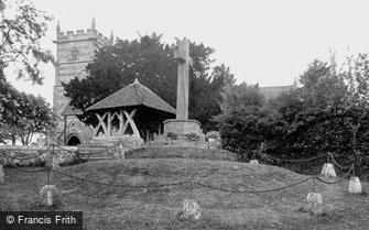 Sixpenny Handley, St Mary's Church and War Memorial c1955