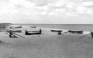 Sizewell, Beach c1955