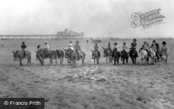 Donkeys On The Beach And The Pier c.1965, Skegness