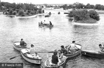 Skegness, the Boating Lake c1955