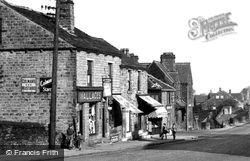 Shops On Commercial Road c.1955, Skelmanthorpe