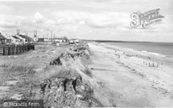 Skipsea, The Beach And Cliffs c.1960