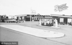 Skipsea, United British Caravan Co Ltd Petrol Station c.1965
