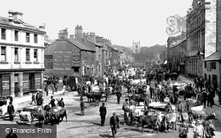 Skipton, Cattle Market In The High Street 1900