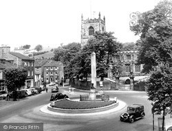 Skipton, Holy Trinity Church And Memorial c.1955