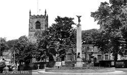 Skipton, Holy Trinity Church And War Memorial c.1955