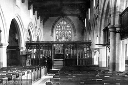 Skipton, The Parish Church, Interior 1888