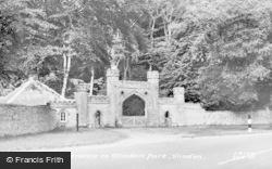 Slindon, Entrance To Slindon Park c.1955