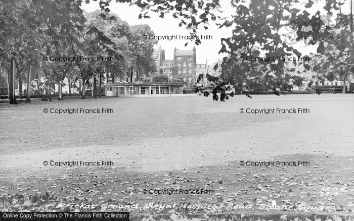 Photo of Sloane Square, Cricket Ground, Royal Hospital c.1960