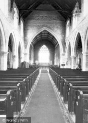 Snaith, St Laurence Church, Interior c.1960