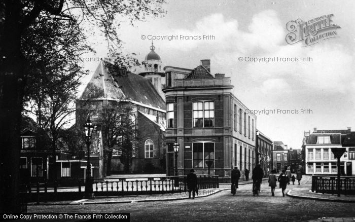 Photo of Sneek, Municipal Gymnasium And Grote Of Martinikerk c.1930