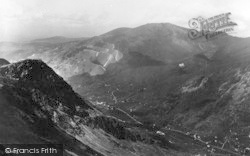 Snowdon, View From Summit Showing Llanberis Pass c.1939