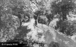 Soham, River From Moat Bridge c.1955