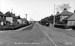 Staples Lane c.1955, Soham