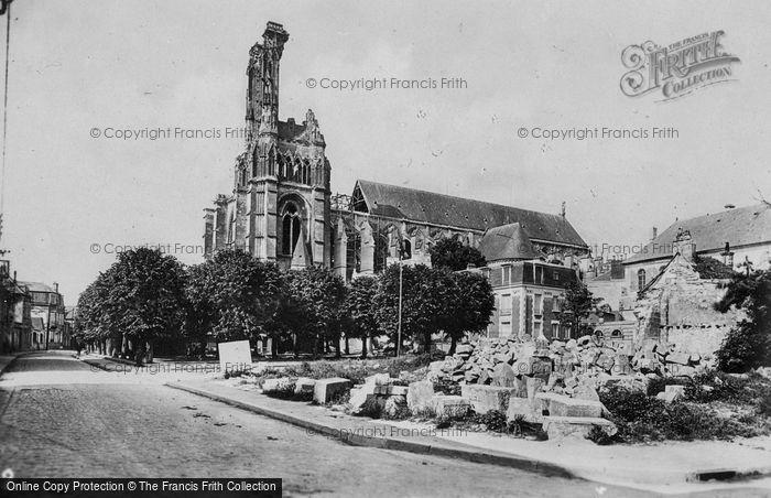 Photo of Soissons, Cathedral, War Damaged c.1920