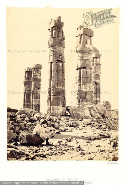 Photo of Soleb, Columns Of The Temple At Soleb 1860