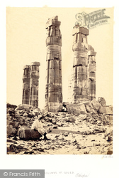 Soleb, Columns Of The Temple At Soleb 1860