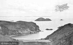 Quadan From The Gribbin c.1950, Solva