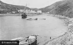 The Harbour From The Gribbin c.1955, Solva