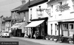 Somersham, The Bonnett's, The Village Shop And The Rose & Crown c.1960