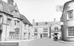 Somerton, Post Office And Red Lion c.1955
