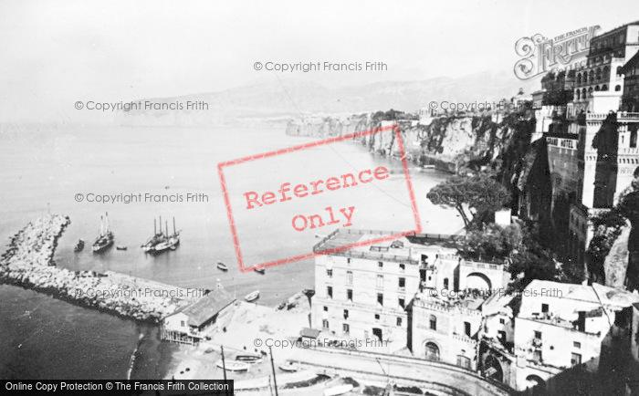 Photo of Sorrento, Marina Piccola And Grand Hotel Vittoria c.1920