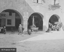 Fountain And Cafe Du Pont c.1939, Sospel
