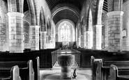 South Brent, Church interior c1890