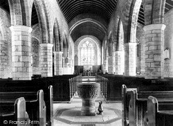 South Brent, St Petroc's Church Interior c.1890