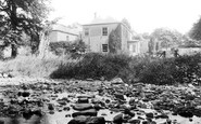 South Brent, the Stepping Stones and Vicarage c1890