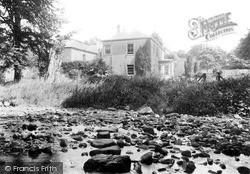 South Brent, The Stepping Stones And Vicarage c.1890