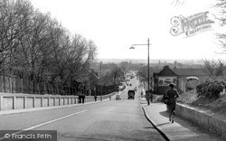 South Chingford, Old Church Road From Chingford Mount c.1955