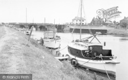 South Ferriby, The River Ancholme And Lock c.1965