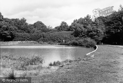 South Holmwood, Four Ways Pond c.1955