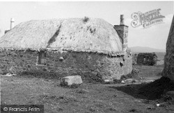 South Uist, Howmore, Old Type Cottage 1963